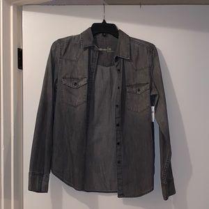 NWT- GAP Grey Denim Jacket